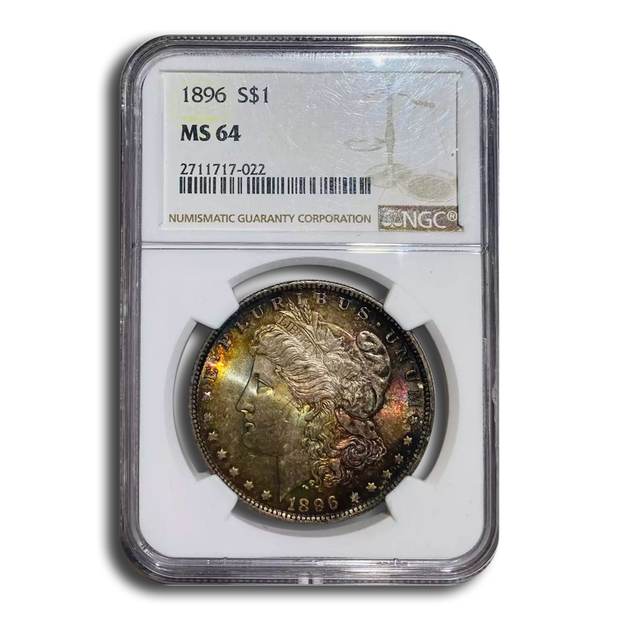 1896 Morgan Dollar MS-64 NGC